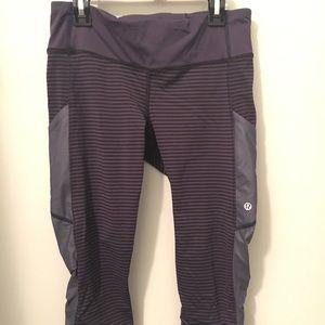 Lululemon Cropped Leggings w/ Thigh Pockets Size 6